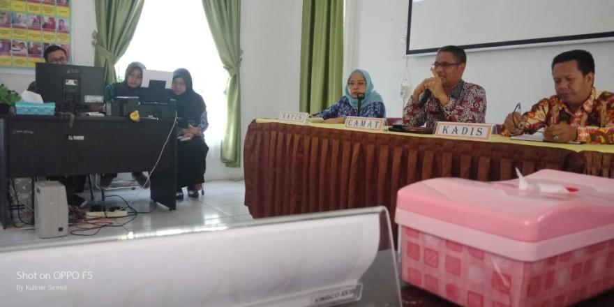 Rapat Lintas Sektor Semester Pertama Puskesmas Natai Palingkau Tahun 2019